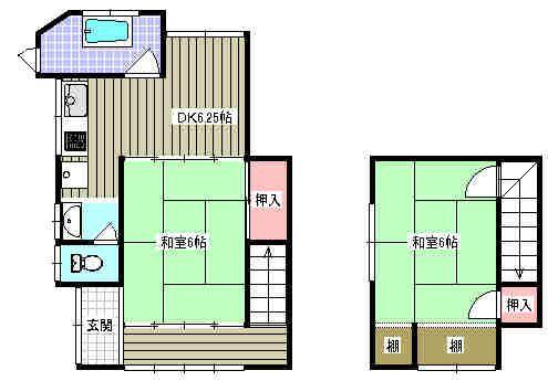 昭和アパート5 の間取り図