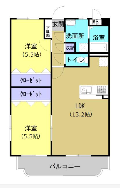 ユーミー久城 301号室の間取り図