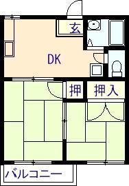 コーポ日原 201号室の間取り図
