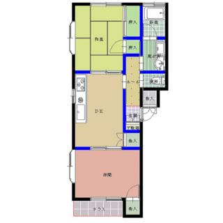 パレスフラワー湖月 202号室の間取り図