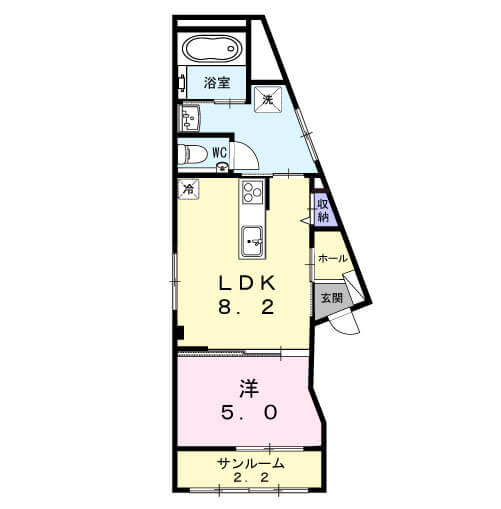 すみれビル 201号室の間取り図