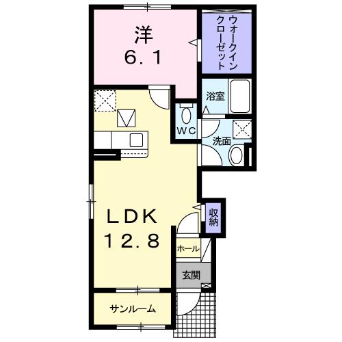 ドエルF・T・K Ⅲ番館 101号室の間取り図