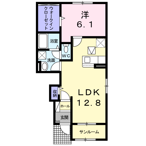 ドエルF・T・K Ⅲ番館 103号室の間取り図