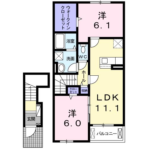 ドエルF・T・K Ⅲ番館 202号室の間取り図