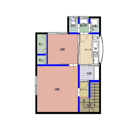 シティーパレス湖月 201号室の間取り図