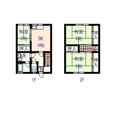 土井アパート 5号室の間取り図