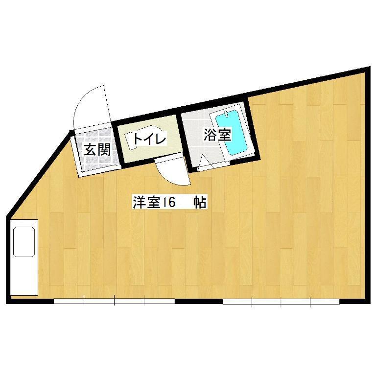 エルモア益田駅前 301号室の間取り図