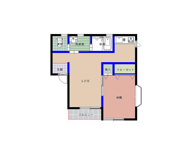 エルモア栄町 101号室の間取り図