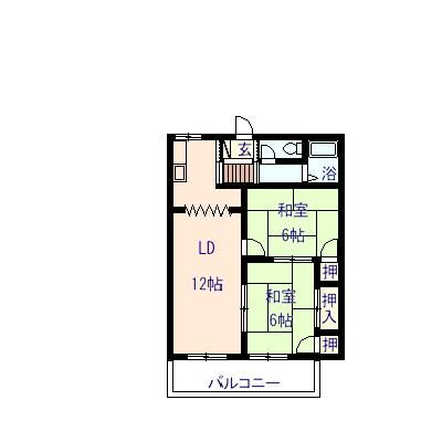 ファミーユ 202号室の間取り図