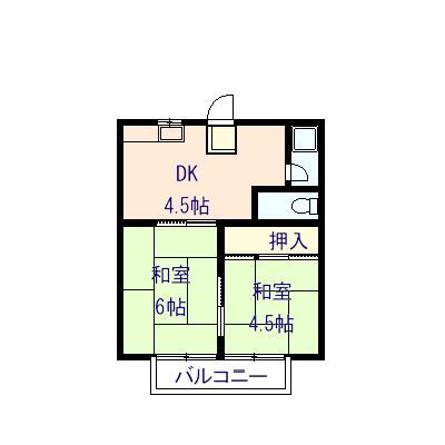 グリーンコーポ 6号室の間取り図