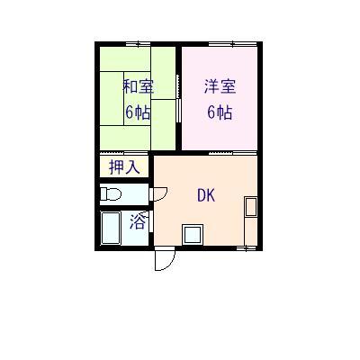 今津アパート 103号室の間取り図