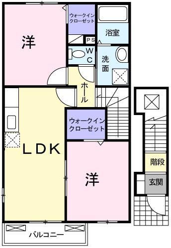 プレッソグリーンレイクII 203号室の間取り図