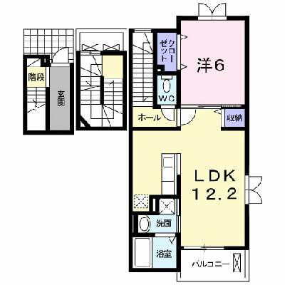 ブレッザ・ディ・マーレⅠ 301号室の間取り図