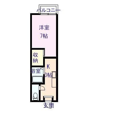 シャーメゾン丸山 102号室の間取り図
