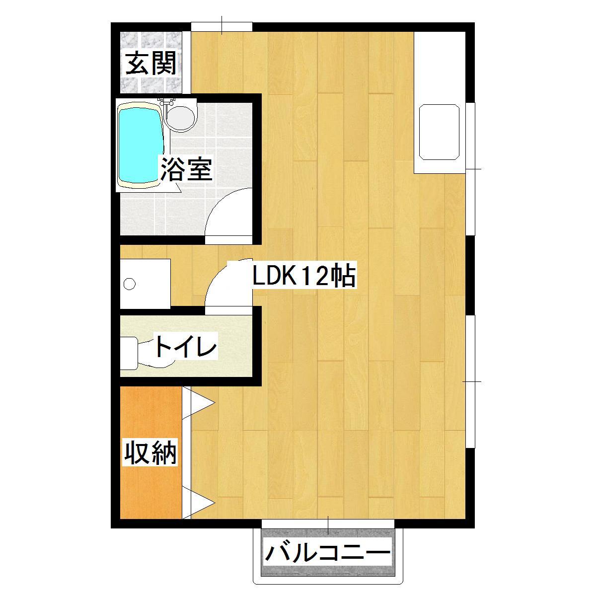 須子ビル 201号室の間取り図