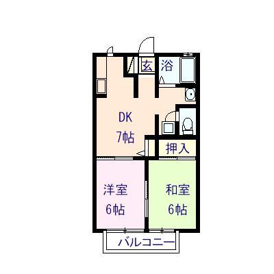 サンピラー昭和 102号室の間取り図