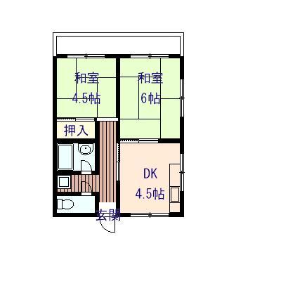 高橋アパート 301号室の間取り図
