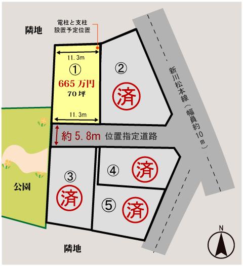萩市椿東無田ヶ原の新規分譲地 区画1の写真6