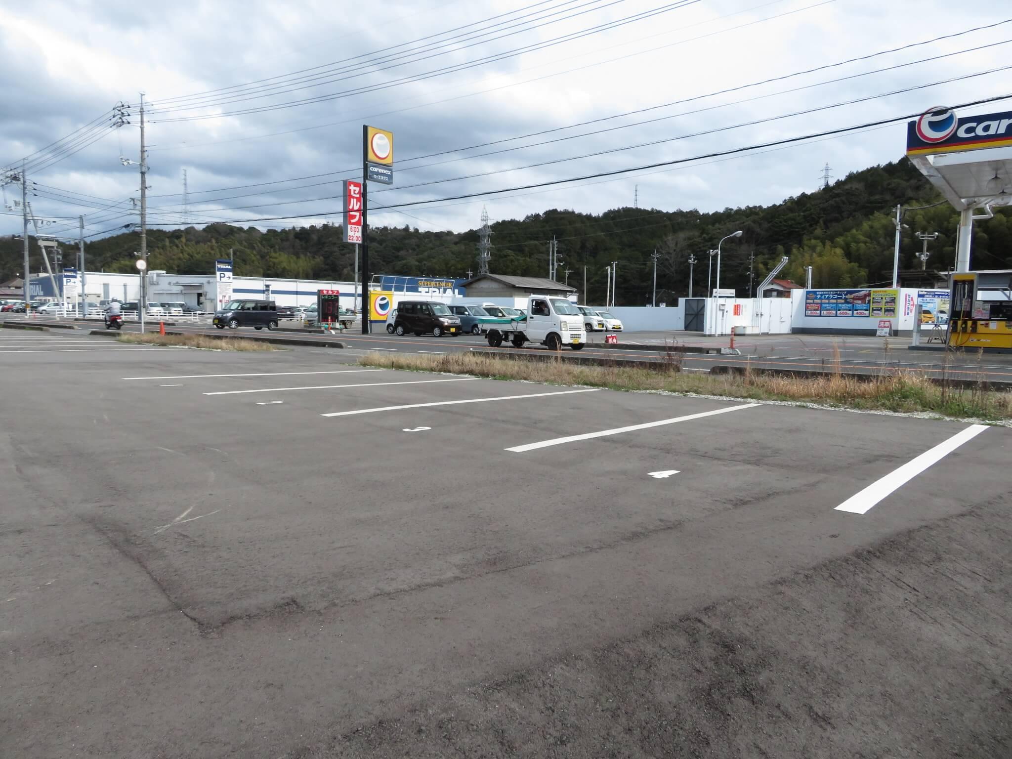 須子町トライアル前駐車場